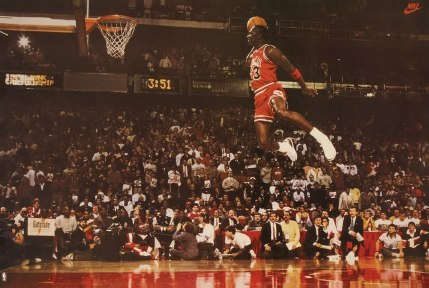 Jordan free throw line dunk